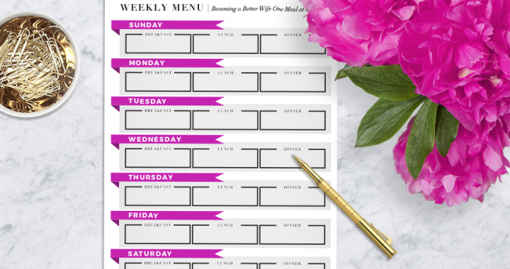 Friday Freebies: Meal Planning Template Download