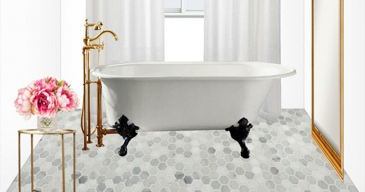 Master Bathroom Design Concept: Old World Glamour